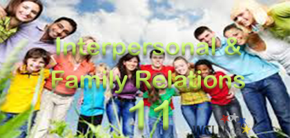 Interpersonal and Family Relations 11